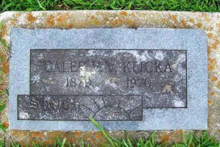 """KLICKA, """"CALEB"""" E. V. - Benton County, Arkansas   """"CALEB"""" E. V. KLICKA - Arkansas Gravestone Photos"""