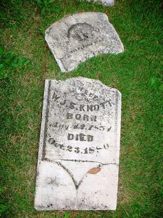 KNOTT, MARTHA - Benton County, Arkansas | MARTHA KNOTT - Arkansas Gravestone Photos