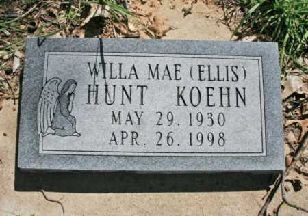 HUNT, WILLA MAE - Benton County, Arkansas | WILLA MAE HUNT - Arkansas Gravestone Photos