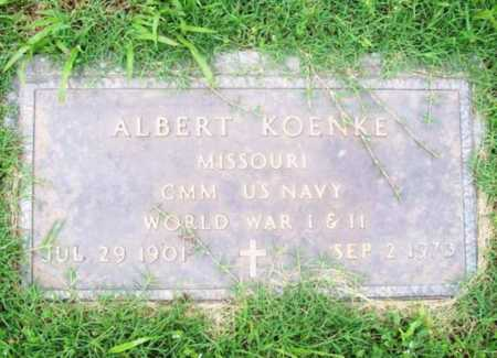 KOENKE (VETERAN 2 WARS), ALBERT - Benton County, Arkansas | ALBERT KOENKE (VETERAN 2 WARS) - Arkansas Gravestone Photos