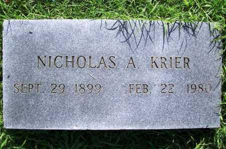 KRIER, NICHOLAS A. - Benton County, Arkansas | NICHOLAS A. KRIER - Arkansas Gravestone Photos
