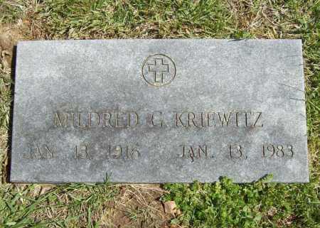 KING KRIEWITZ, MILDRED G. - Benton County, Arkansas | MILDRED G. KING KRIEWITZ - Arkansas Gravestone Photos
