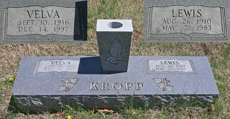 KROPP, LEWIS - Benton County, Arkansas   LEWIS KROPP - Arkansas Gravestone Photos
