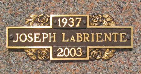 LA BRIENTE, JOSEPH - Benton County, Arkansas | JOSEPH LA BRIENTE - Arkansas Gravestone Photos