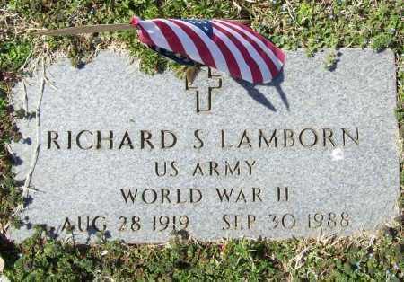 LAMBORN (VETERAN WWII), RICHARD SHERMAN - Benton County, Arkansas   RICHARD SHERMAN LAMBORN (VETERAN WWII) - Arkansas Gravestone Photos