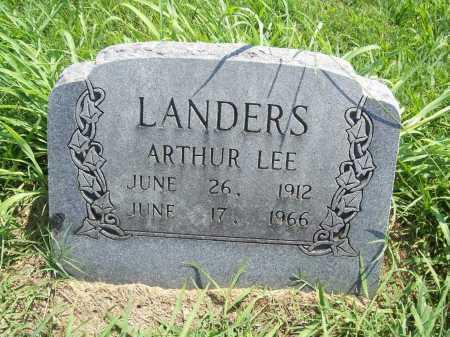 LANDERS, ARTHUR LEE - Benton County, Arkansas   ARTHUR LEE LANDERS - Arkansas Gravestone Photos
