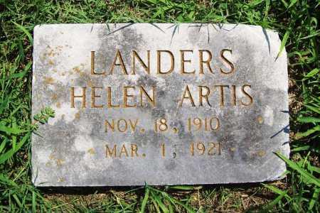 LANDERS, HELEN ARTIS - Benton County, Arkansas | HELEN ARTIS LANDERS - Arkansas Gravestone Photos