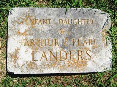 LANDERS, INFANT DAUGHTER - Benton County, Arkansas | INFANT DAUGHTER LANDERS - Arkansas Gravestone Photos