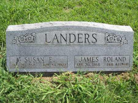 LANDERS, JAMES ROLAND - Benton County, Arkansas | JAMES ROLAND LANDERS - Arkansas Gravestone Photos