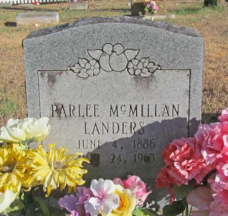 MCMILLAN LANDERS, PARLEE - Benton County, Arkansas | PARLEE MCMILLAN LANDERS - Arkansas Gravestone Photos