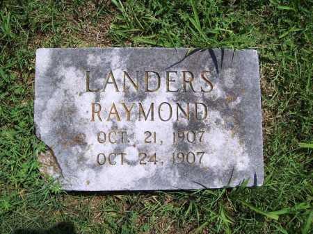 LANDERS, RAYMOND - Benton County, Arkansas | RAYMOND LANDERS - Arkansas Gravestone Photos