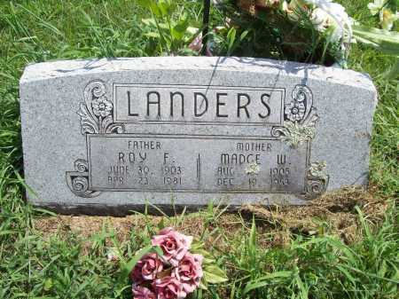 LANDERS, ROY F - Benton County, Arkansas | ROY F LANDERS - Arkansas Gravestone Photos