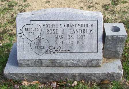 LANDRUM, ROSE J. - Benton County, Arkansas   ROSE J. LANDRUM - Arkansas Gravestone Photos