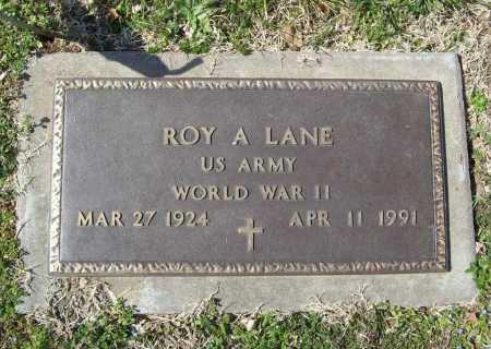 LANE (VETERAN WWII), ROY A - Benton County, Arkansas   ROY A LANE (VETERAN WWII) - Arkansas Gravestone Photos