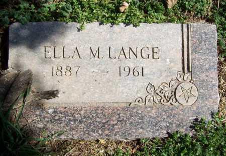 LANGE, ELLA M. - Benton County, Arkansas | ELLA M. LANGE - Arkansas Gravestone Photos