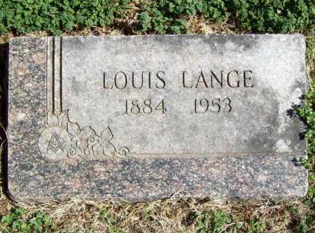 LANGE, LOUIS - Benton County, Arkansas | LOUIS LANGE - Arkansas Gravestone Photos