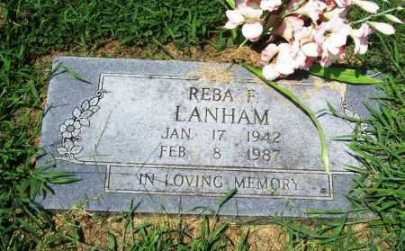 LANHAM, REBA F. - Benton County, Arkansas   REBA F. LANHAM - Arkansas Gravestone Photos