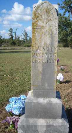 LASLEY, HORACE WALKER - Benton County, Arkansas | HORACE WALKER LASLEY - Arkansas Gravestone Photos