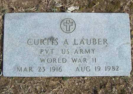 LAUBER (VETERAN WWII), CURTIS A - Benton County, Arkansas | CURTIS A LAUBER (VETERAN WWII) - Arkansas Gravestone Photos