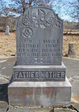 EVANS LAUDERDALE, NANCY E - Benton County, Arkansas | NANCY E EVANS LAUDERDALE - Arkansas Gravestone Photos