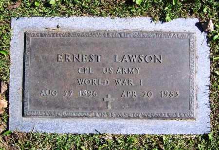 LAWSON (VETERAN WWI), ERNEST - Benton County, Arkansas | ERNEST LAWSON (VETERAN WWI) - Arkansas Gravestone Photos