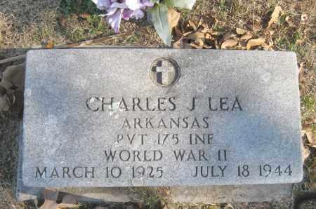 LEA (VETERAN WWII), CHARLES J - Benton County, Arkansas | CHARLES J LEA (VETERAN WWII) - Arkansas Gravestone Photos
