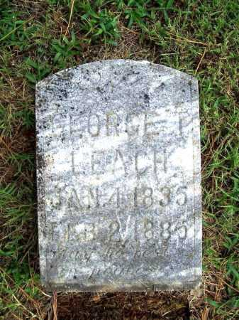 LEACH, GEORGE T. - Benton County, Arkansas   GEORGE T. LEACH - Arkansas Gravestone Photos