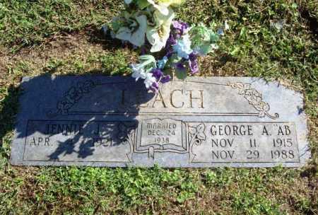 "LEACH, GEORGE A. ""AB"" - Benton County, Arkansas | GEORGE A. ""AB"" LEACH - Arkansas Gravestone Photos"