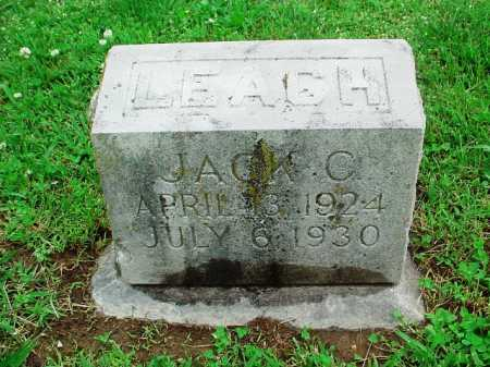 LEACH, JACK C. - Benton County, Arkansas | JACK C. LEACH - Arkansas Gravestone Photos