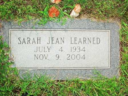 LEARNED, SARAH JEAN - Benton County, Arkansas | SARAH JEAN LEARNED - Arkansas Gravestone Photos
