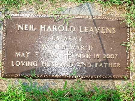 LEAVENS (VETERAN WWII), NEIL HAROLD - Benton County, Arkansas | NEIL HAROLD LEAVENS (VETERAN WWII) - Arkansas Gravestone Photos