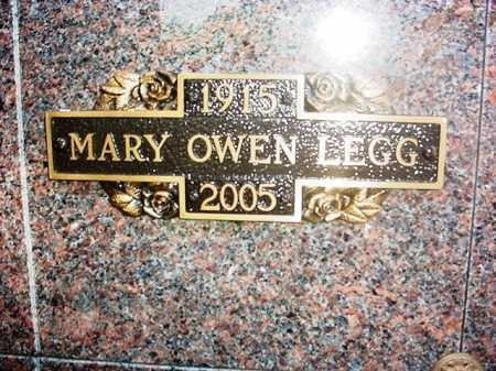 OWEN LEGG, MARY - Benton County, Arkansas | MARY OWEN LEGG - Arkansas Gravestone Photos