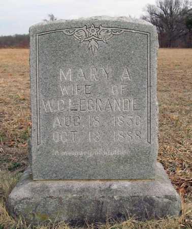 LEGRAND, MARY A. - Benton County, Arkansas | MARY A. LEGRAND - Arkansas Gravestone Photos