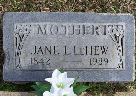 LEHEW, JANE L. - Benton County, Arkansas | JANE L. LEHEW - Arkansas Gravestone Photos