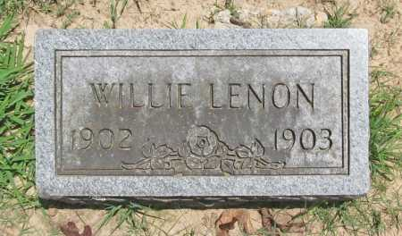 LENON, WILLIE - Benton County, Arkansas | WILLIE LENON - Arkansas Gravestone Photos