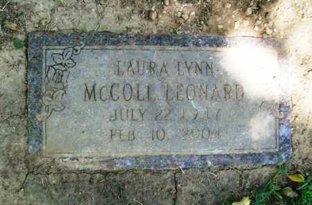 MCCOLL LEONARD, LAURA LYNN - Benton County, Arkansas | LAURA LYNN MCCOLL LEONARD - Arkansas Gravestone Photos