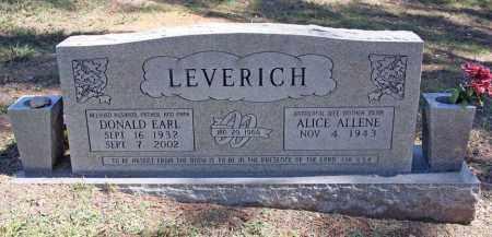 LEVERICH, DONALD EARL - Benton County, Arkansas | DONALD EARL LEVERICH - Arkansas Gravestone Photos