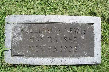 LEWIS, WILLIAM A. - Benton County, Arkansas | WILLIAM A. LEWIS - Arkansas Gravestone Photos