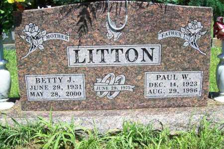 LITTON, BETTY J. - Benton County, Arkansas | BETTY J. LITTON - Arkansas Gravestone Photos