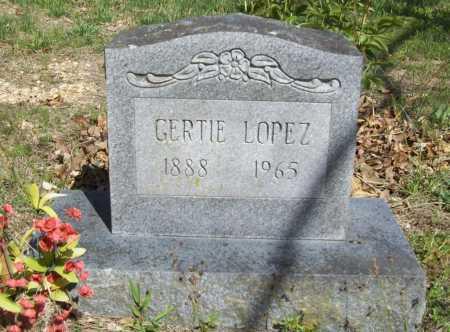 LOPEZ, GERTIE - Benton County, Arkansas | GERTIE LOPEZ - Arkansas Gravestone Photos
