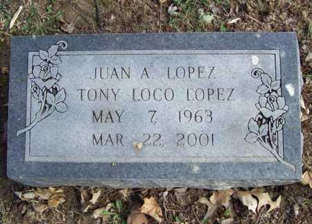 LOPEZ, JUAN ANTONIO - Benton County, Arkansas   JUAN ANTONIO LOPEZ - Arkansas Gravestone Photos
