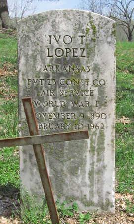 LOPEZ (VETERAN WWI), IVO T - Benton County, Arkansas   IVO T LOPEZ (VETERAN WWI) - Arkansas Gravestone Photos