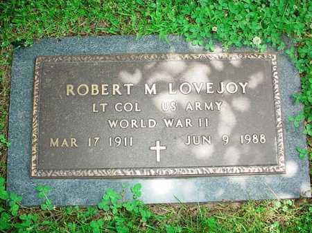 LOVEJOY (VETERAN WWII), ROBERT M. - Benton County, Arkansas | ROBERT M. LOVEJOY (VETERAN WWII) - Arkansas Gravestone Photos
