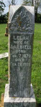 LOVELL, LELAH - Benton County, Arkansas | LELAH LOVELL - Arkansas Gravestone Photos