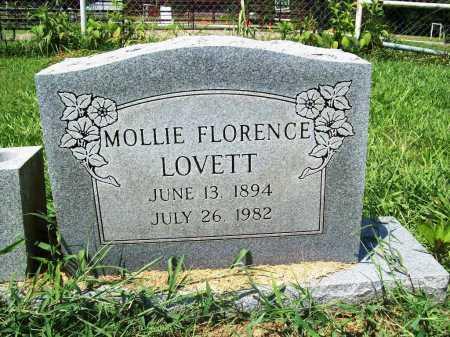 LOVETT, MOLLIE FLORENCE - Benton County, Arkansas   MOLLIE FLORENCE LOVETT - Arkansas Gravestone Photos