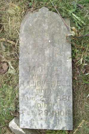 LOVEWELL, MARY E - Benton County, Arkansas | MARY E LOVEWELL - Arkansas Gravestone Photos