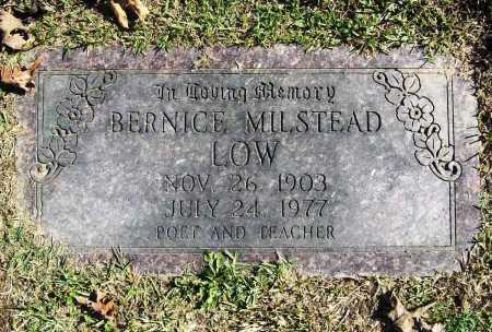 MILSTEAD LOW, BERNICE - Benton County, Arkansas | BERNICE MILSTEAD LOW - Arkansas Gravestone Photos