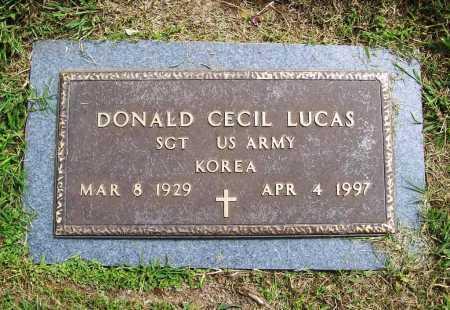 LUCAS (VETERAN KOR), DONALD CECIL - Benton County, Arkansas   DONALD CECIL LUCAS (VETERAN KOR) - Arkansas Gravestone Photos