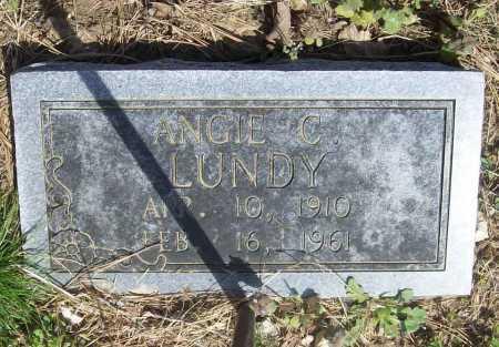 LUNDY, ANGIE C. - Benton County, Arkansas   ANGIE C. LUNDY - Arkansas Gravestone Photos