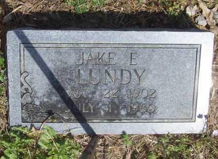 LUNDY, JAKE E. - Benton County, Arkansas | JAKE E. LUNDY - Arkansas Gravestone Photos
